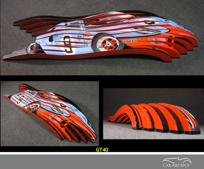 GT40 by automotive artist and sculptor David Chapple