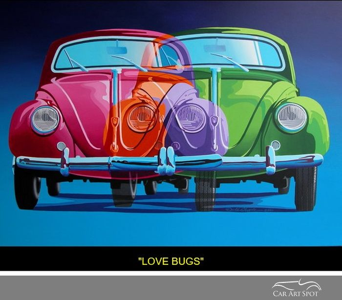 Love Bugs by automotive artist David Chapple