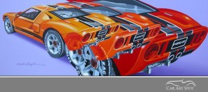 Ford GT40 by automotive artist David Chapple