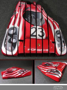 Ribbon Candy Porsche auto art by David Chapple