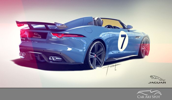 Jaguar Project 7 sketch by César Pieri - Automotive Artist and Designer