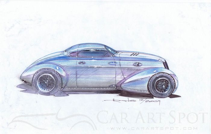 Alberto Hernandez Automotive art