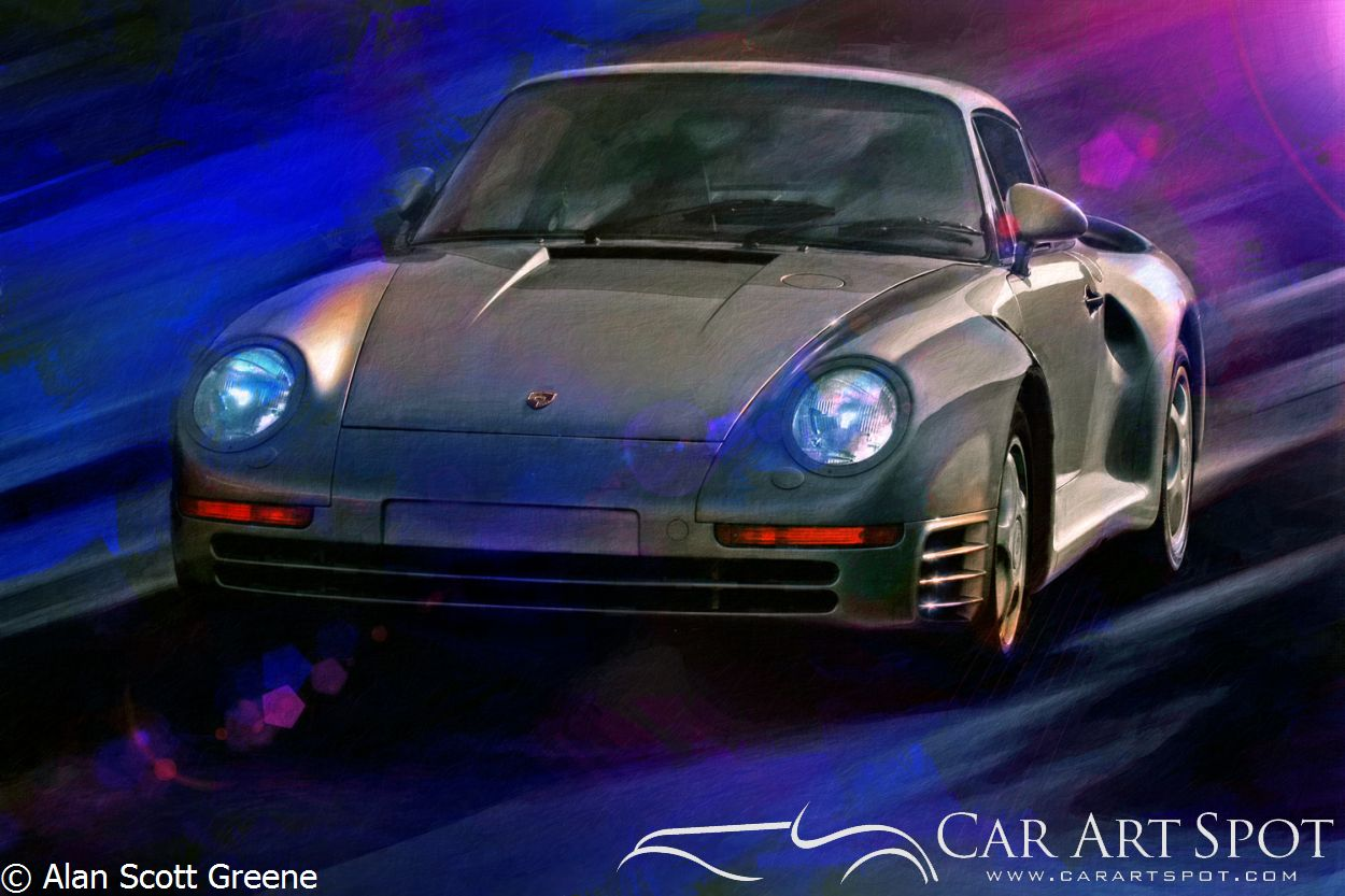 Alan Greene - Prince 1500 automotive art