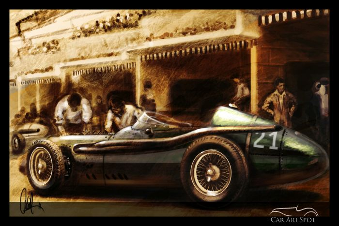 Maserati Automotive Art by Ramkrishna