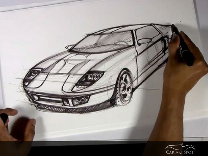 Ford GT sketch by Arvind Ramkrishna