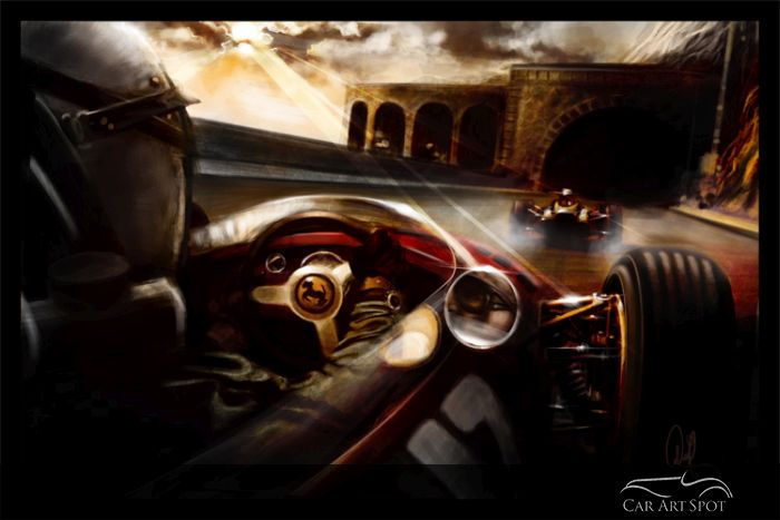 Monaco Grand Prix tunnel painting by Arvind Ramkrishna