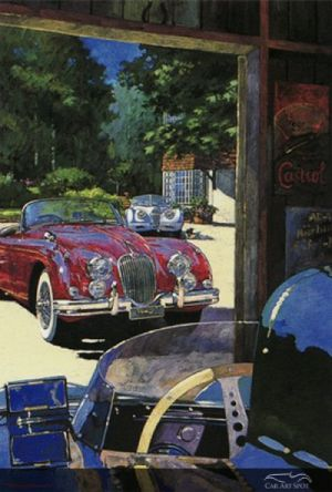 Jaguar XK120 painted by AFAS Artist Barry Rowe