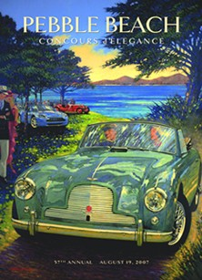 Pebble Beach Posters by AFAS Artist Barry Rowe