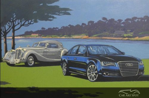 Car Art by AFAS Automotive Artist Barry Rowe