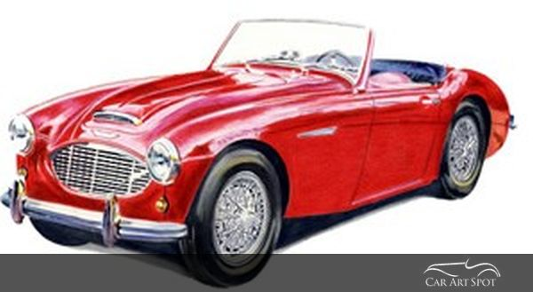 Classic Convertible Austin Healey by Brian Casey