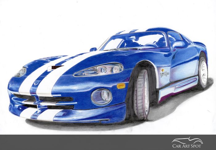 Supercars Dodge Viper painting