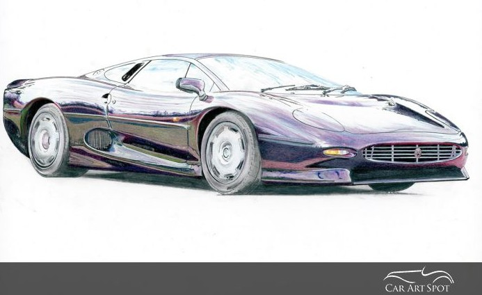 Supercars Jaguar XJ220 painting