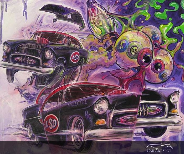 Automotive Art by Bruce Gossett