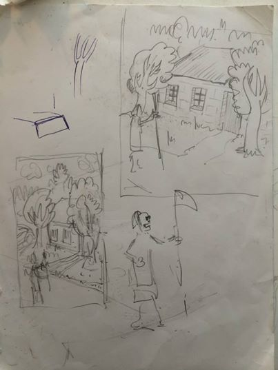 """Sketch for """"Home"""" by Cliff Elgin"""