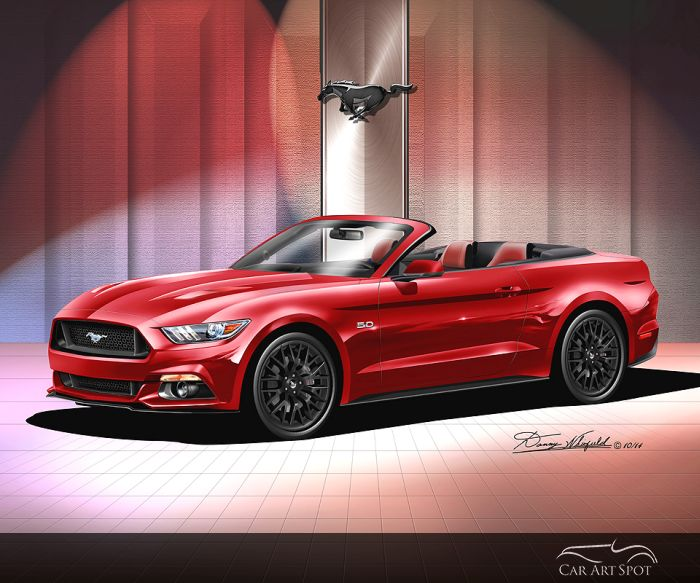 Ford Mustang Automotive Art by Danny Whitfield