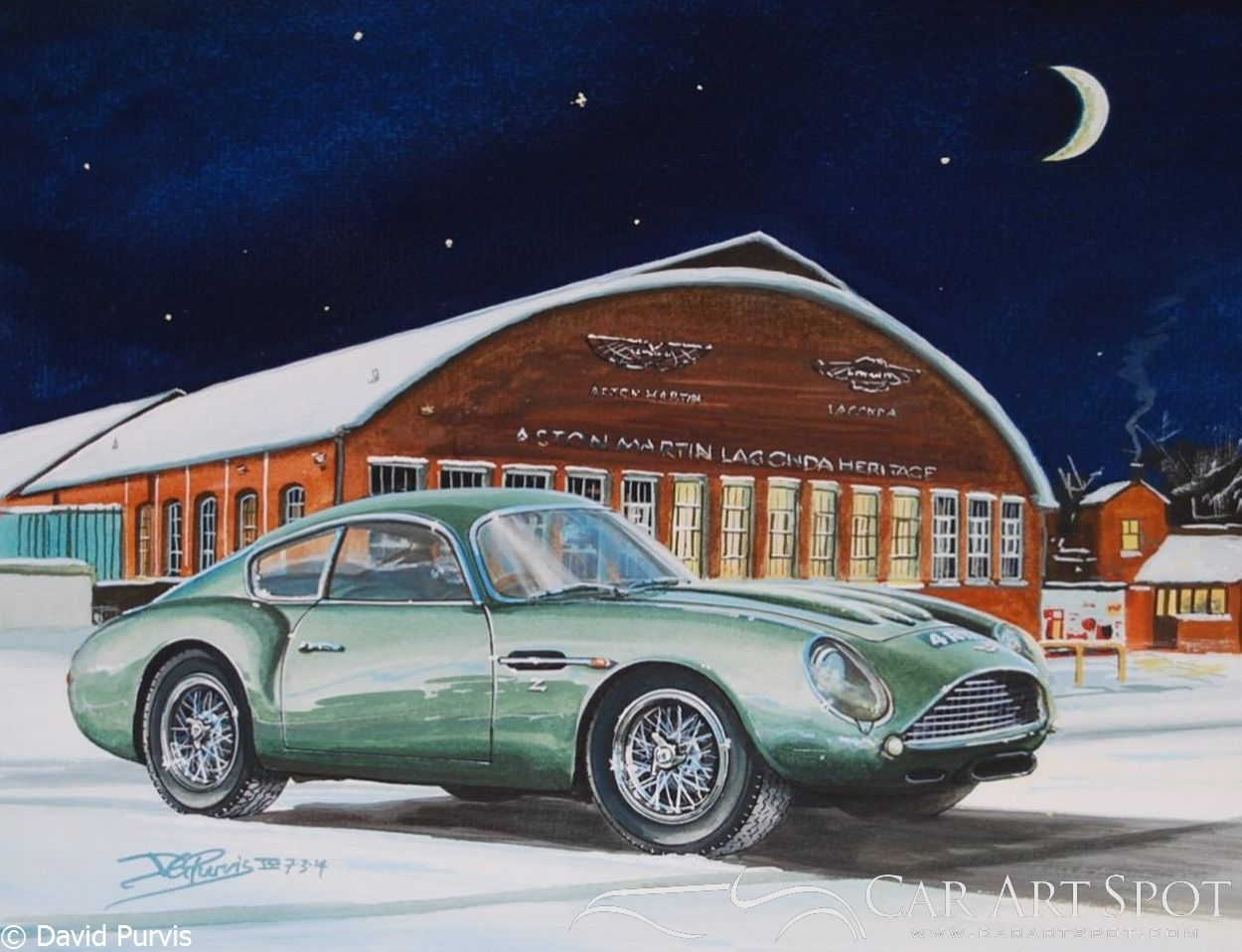 Aston Martin DB4 Zagato Winter Works Service by David Purvis