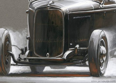 Custom Car Art by Artist and Designer Janne Kutja