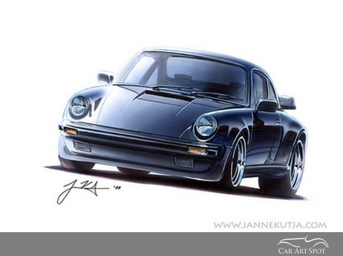 Automotive Car Art by Janne Kutja