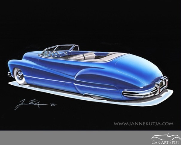 Car Art by Automotive Artist and Designer Janne Kutja