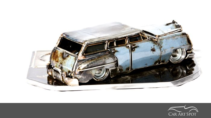 Blue Chrysler Desoto by Josh Welton Brown of Dog Welding