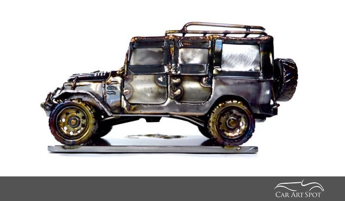 Icon FJ44 Metal Car Art by Josh Welton Brown Dog Welding