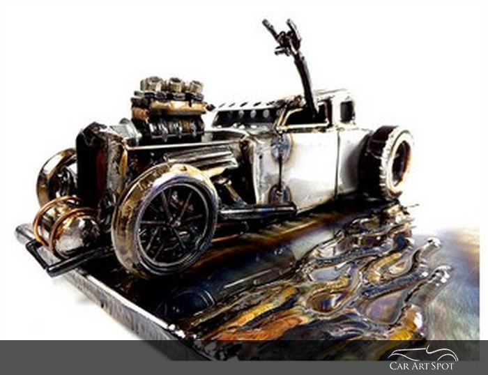 '31 Ford Hot Rod Metal Car Art by Josh Welton
