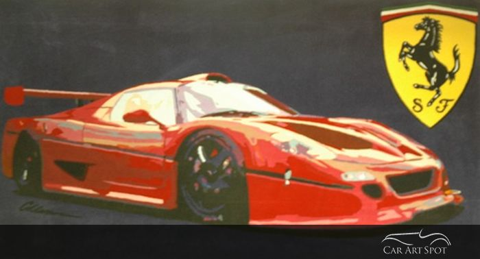 ferrari tapestry carart by Keith Collins