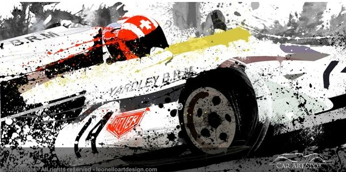 Jo Siffert Yardley P160 by Automotive Artist Michele Leonello