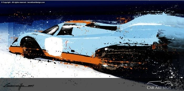 Porsche 917 by Automotive Artist and Car Designer Michele Leonello