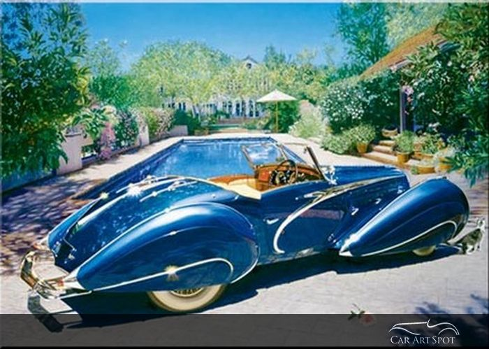 1937 Delahaye by Automotive Fine Arts Artist Nicola Wood