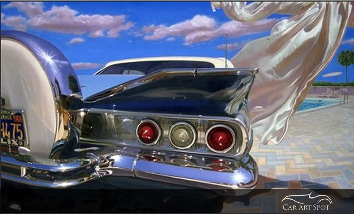 60's Chevy by Automotive Fine Art Artist Nicola Wood