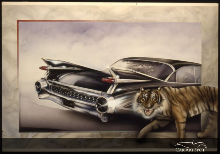 59 Cadillac by Fine Arts Automotive Artist Nicola Wood
