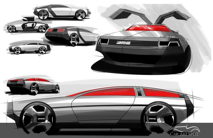 dmc delorean car design by Niels van Roij