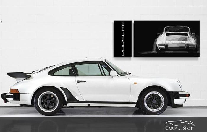 Porsche 911 car art by Niels van Roij