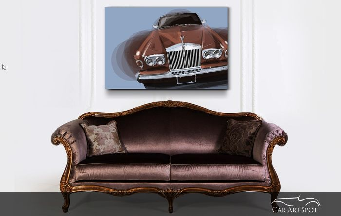 Rolls Royce Corniche car art by Niels van Roij