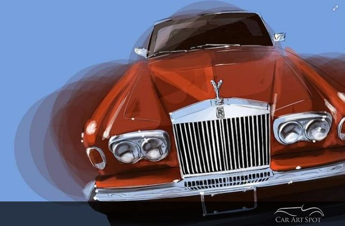 Rolls Royce car art by Niels van Roij