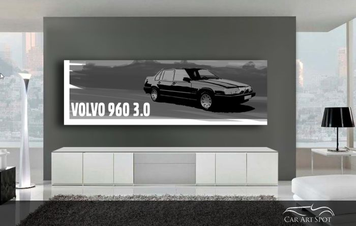 Car art volvo 960 3.0 illustration by Niels van Roij