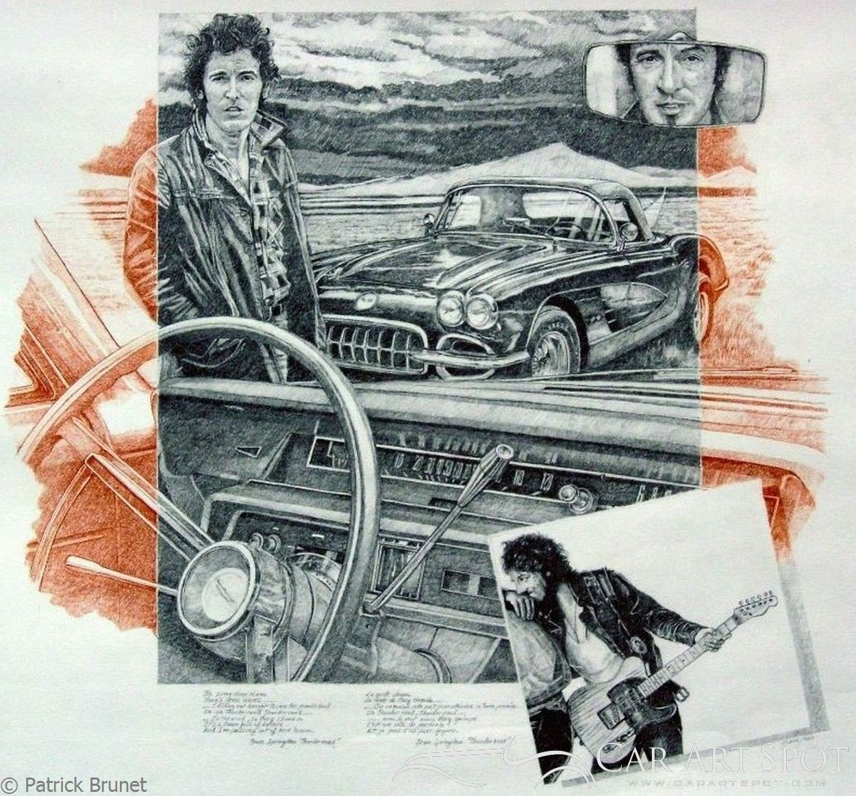 Bruce Springsteen Thunder road by Patrick Brunet