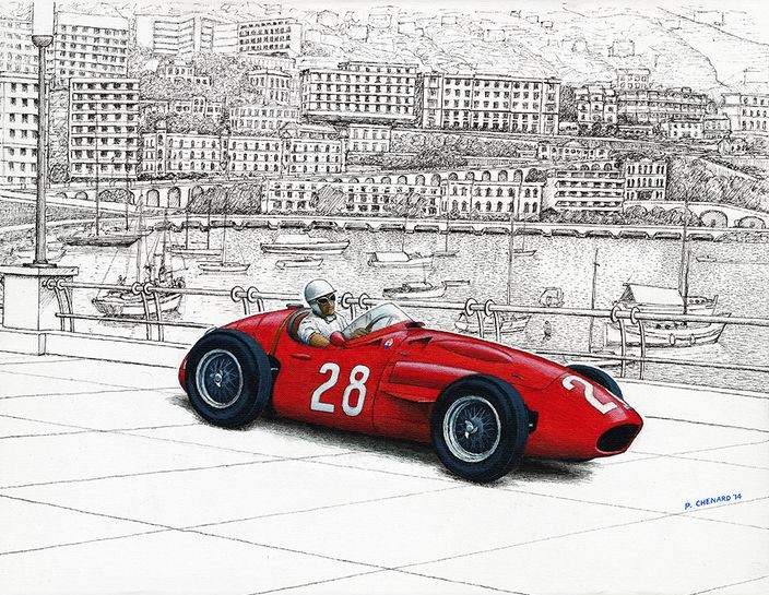 Sir Stirling Moss - Maseratie 250F - 1956 Grand Prix de Monaco