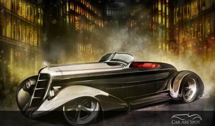hot rods and custom car art by Brian Stupski