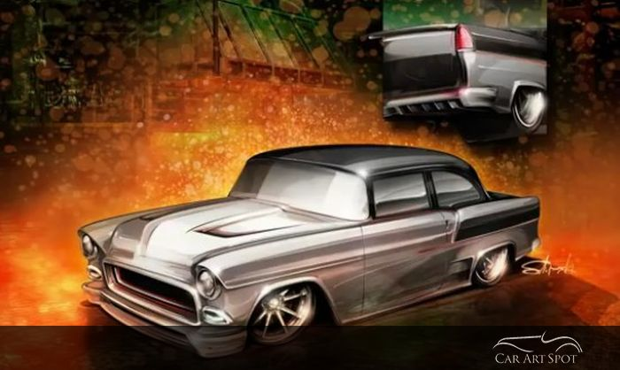 hot rods and custom car art by Brian Stupski Problem Child Kustoms
