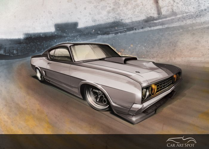 Torino custom car art by Brian Stupski