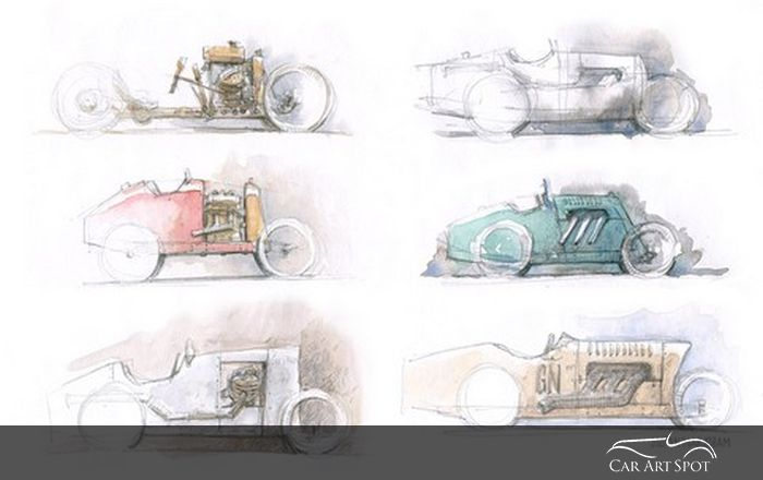 Automotive sketches by Stefan Marjoram