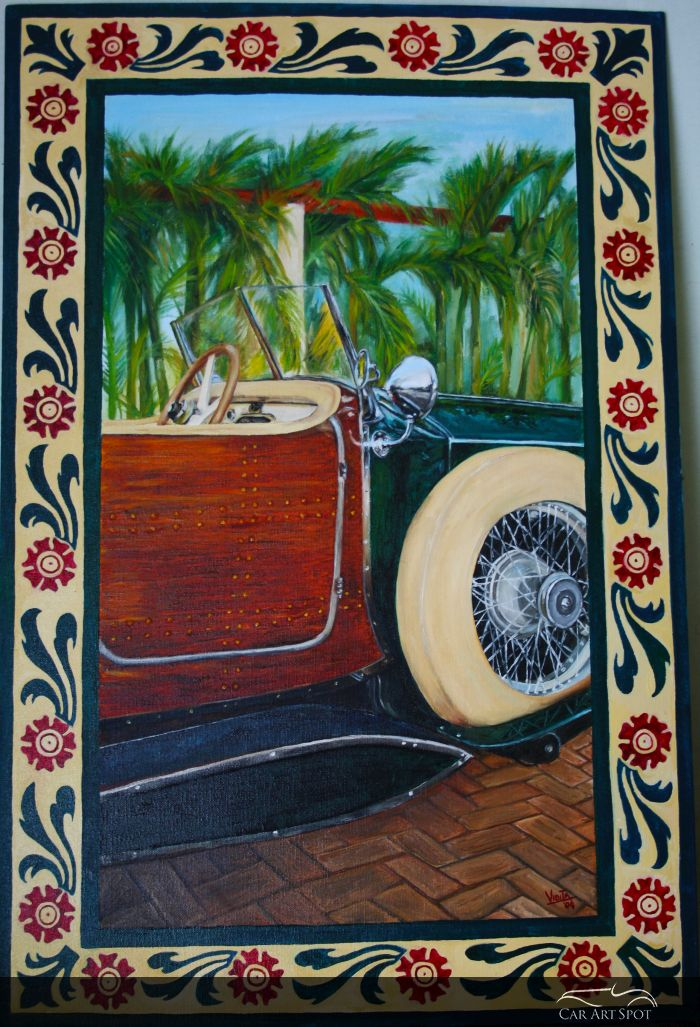 Rolls-Royce Boat Tail painting by Vidita Singh