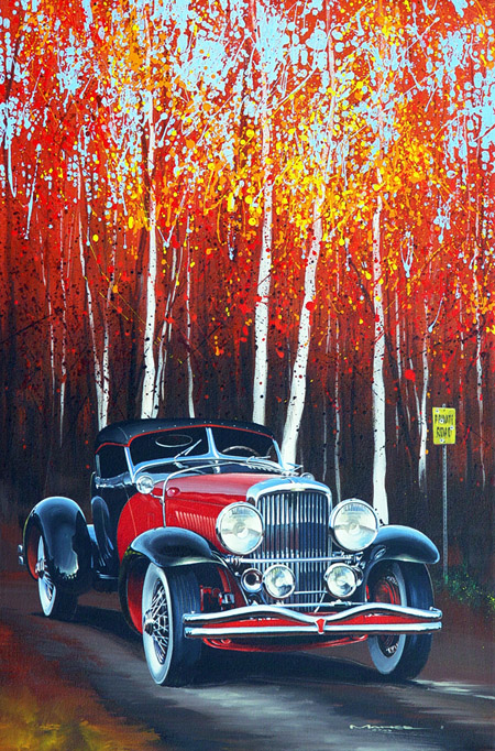 Charles Maher Car Painting Fall