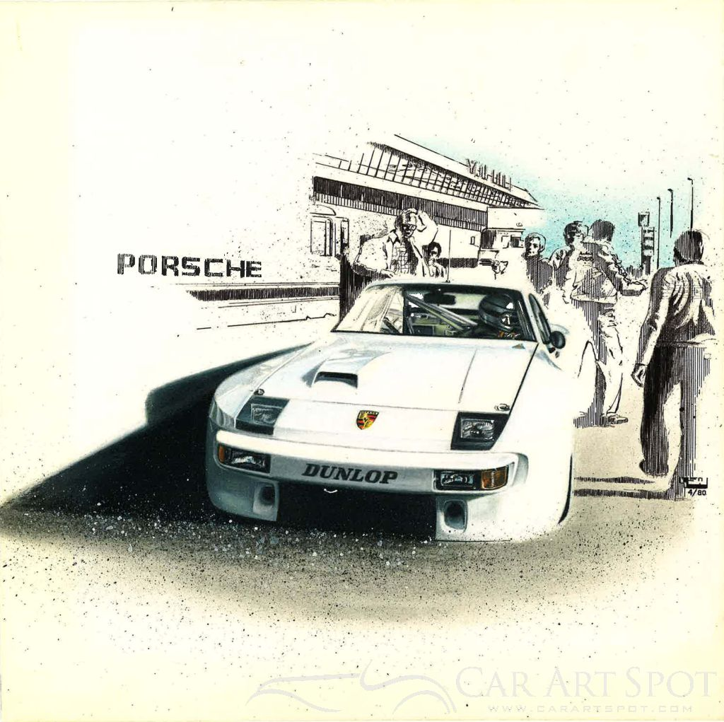 Porsche Painting by Gregory Whitt
