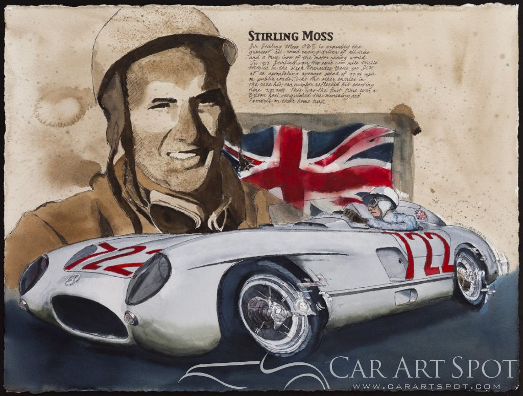 Stirling Moss by Mike Zeller